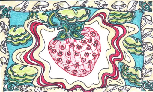 Strawberry Zentangle